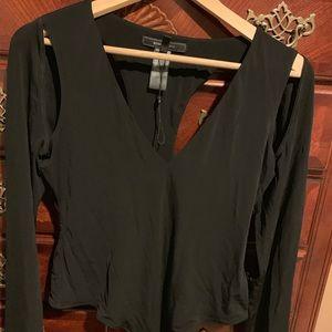 Bcbg Black cutout Bodysuit Size Large